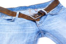 Free Jeans With Belt. Stock Image - 2937591