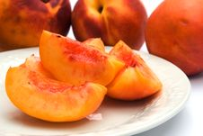 Sliced Nectarines Stock Image