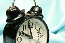 Free Alarm-clock On Blue Background Stock Photos - 2938463