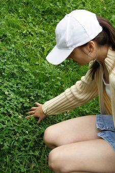 Free Searching:Four-leaved Clover Royalty Free Stock Image - 2938746