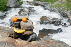 Free Fruits On Stones Royalty Free Stock Photography - 2939037