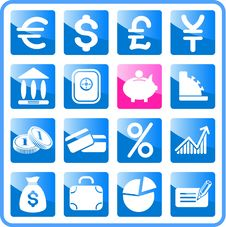 Free Money Icons Stock Image - 2939301