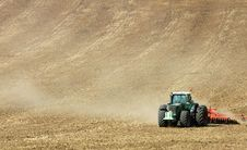 Free Tractor On The Field Stock Image - 2939561