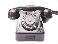 Free Black Vintage Phone Royalty Free Stock Image - 2939676