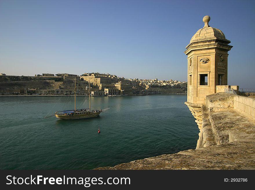 Vedette Overlooking Valleta 2