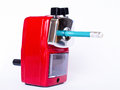 Free Red Pencil Sharpener Royalty Free Stock Photography - 29302207