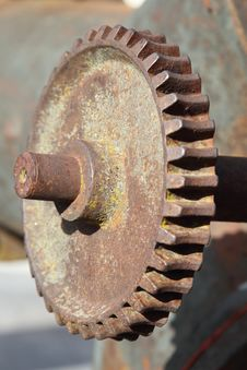 Free Rusty Gear Royalty Free Stock Image - 29300396