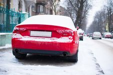 Free Parked Car Near Road Stock Image - 29300681