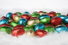 Free Colorful Chocolate Eggs Royalty Free Stock Photo - 29301325