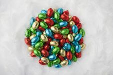 Free Colorful Chocolate Eggs Stock Image - 29301361