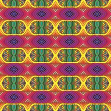 Free 70s Vector Psychedelic Pattern With Stripes Royalty Free Stock Photo - 29303175