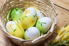 Free Easter Eggs In Basket Royalty Free Stock Image - 29303466