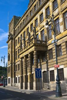 Ministry Of Industry And Commerce In Prague Royalty Free Stock Image