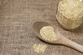 Free Quinoa And Wooden Spoon On Burlap Background-conce Stock Photo - 29311690