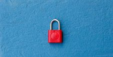Free Red Keypad Lock Stock Image - 29312511