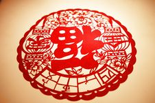 Free Chinese Paper Cutting-character FU Royalty Free Stock Photography - 29313787