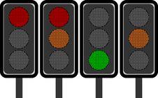LED Traffic Lights Stock Image