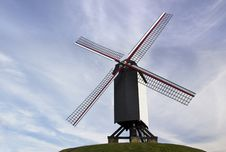 The Famous Old Windmills From Brugge &x28;Bruges&x29; In Flanders Belgium Royalty Free Stock Images