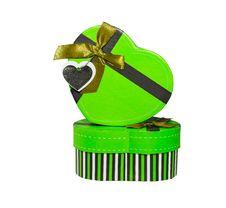 Green Heart Shaped Box Royalty Free Stock Photos