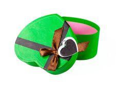 Green Heart Shaped Box Stock Photos