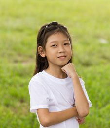 Free Portrait Of Asian Young Girl Royalty Free Stock Photography - 29326027