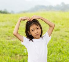 Portrait Of Asian Young Girl Stock Image
