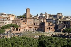 Forum Of Trajan In Rome, Italy Stock Image