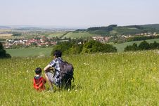 Father And Child In Countryside Royalty Free Stock Photo