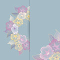 Free Floral Template Greeting Card With Pastel Flowers Stock Photo - 29333100