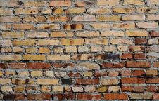 Free Aged Brick Wall Background Stock Photography - 29330992