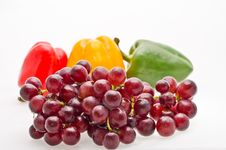 Free Grape With Peper Stock Photo - 29332170