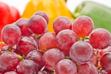 Free Grape With Peper Royalty Free Stock Photo - 29332225