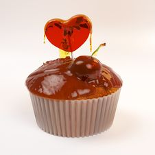 Free Valentine S Day Cupcake Stock Photography - 29332382