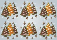 Free Gingerbread Christmas Trees Pattern Royalty Free Stock Photo - 29332695