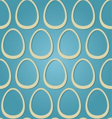 Free Easter Eggs Beige Blue Seamless Stock Photography - 29334802