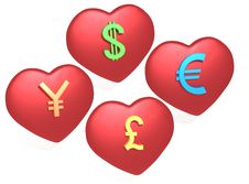 Love Money Royalty Free Stock Image