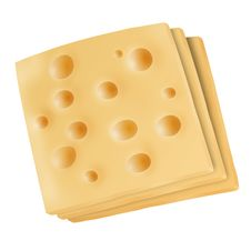 Free Emmental Cheese Slices On White Royalty Free Stock Photo - 29337065