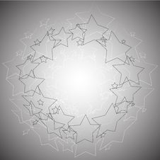 Free Radial Stars Abstract Background Royalty Free Stock Photography - 29339607