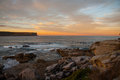 Free Sunset And Rock Beach Royalty Free Stock Photo - 29341395