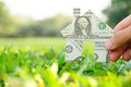 Free Hand Holding Banknote House Icon Royalty Free Stock Images - 29341519