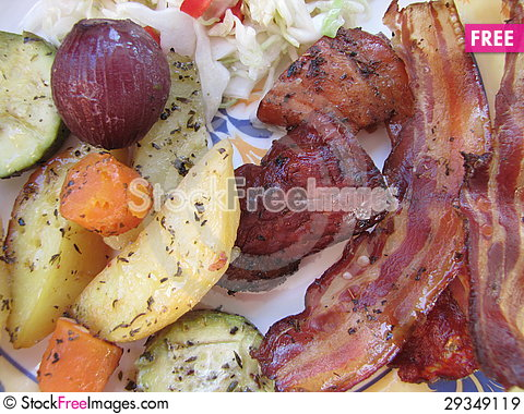 Free Calorie Lunch Royalty Free Stock Images - 29349119