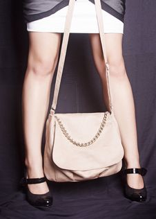 Free Girl With Purse Stock Photo - 29340670