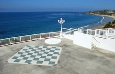 Free Large Chess Board On Overlook Of Main Beach, Laguna Beach. Stock Photo - 29345570
