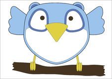 Free Cute Little Blue Owl Stock Images - 29345784