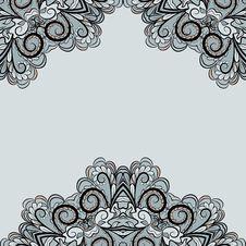 Free Ornamental Grey Invitation Card Stock Photo - 29346970