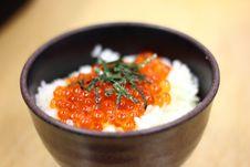 Fish Egg Rice Ball Stock Photo