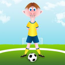 Free Child Starts Soccer Match Stock Photos - 29348093