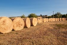 Free Row Of Bales Of Hay Stock Images - 29349974