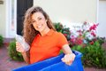 Free Beautiful Female Holding Recycling Bin Stock Photos - 29350473