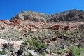Free Keystone Over Thrust Fault, Red Rock Canyon, Nevada Royalty Free Stock Photo - 29353055